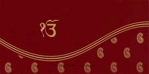 test Sikh Wedding Cards - SWC-9092RS