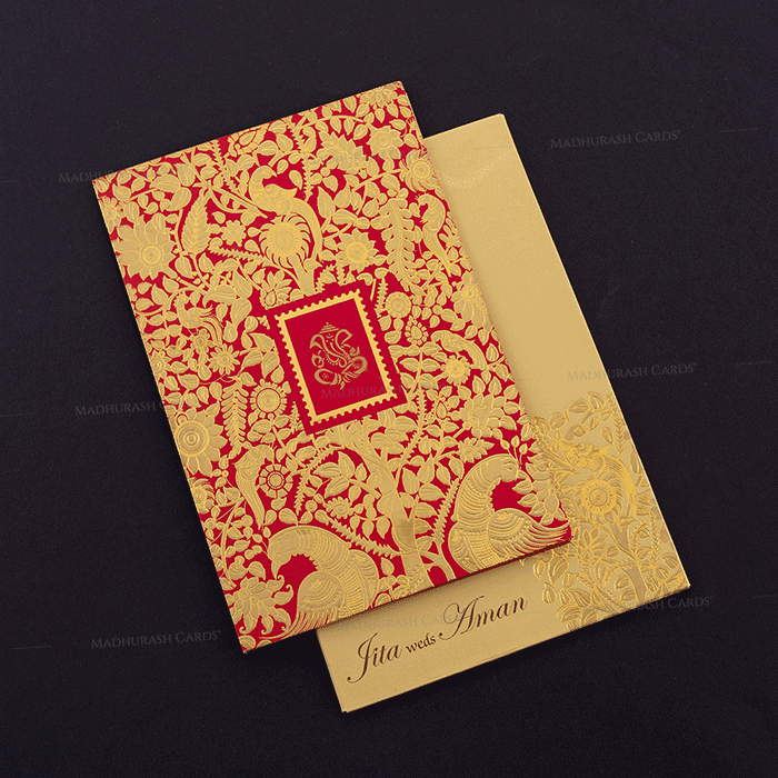 Hindu Wedding Cards - HWC-16069 - 2