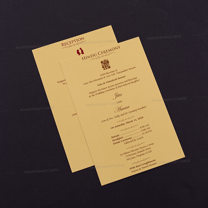 Hindu Wedding Cards - HWC-16069 - 4