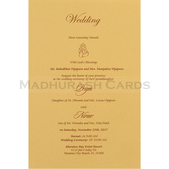 Hindu Wedding Cards - HWC-16069 - 5