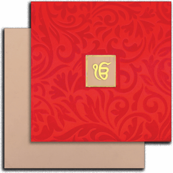 Sikh Wedding Cards - SWC-14032S - 2