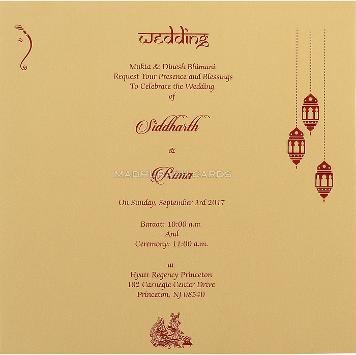 Hindu Wedding Cards - HWC-14032 - 5