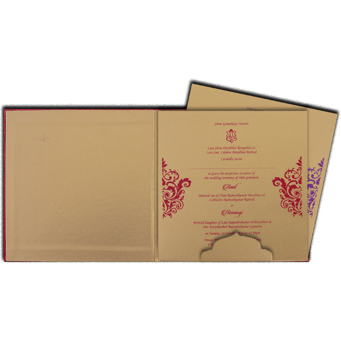 Hindu Wedding Cards - HWC-14035G - 3