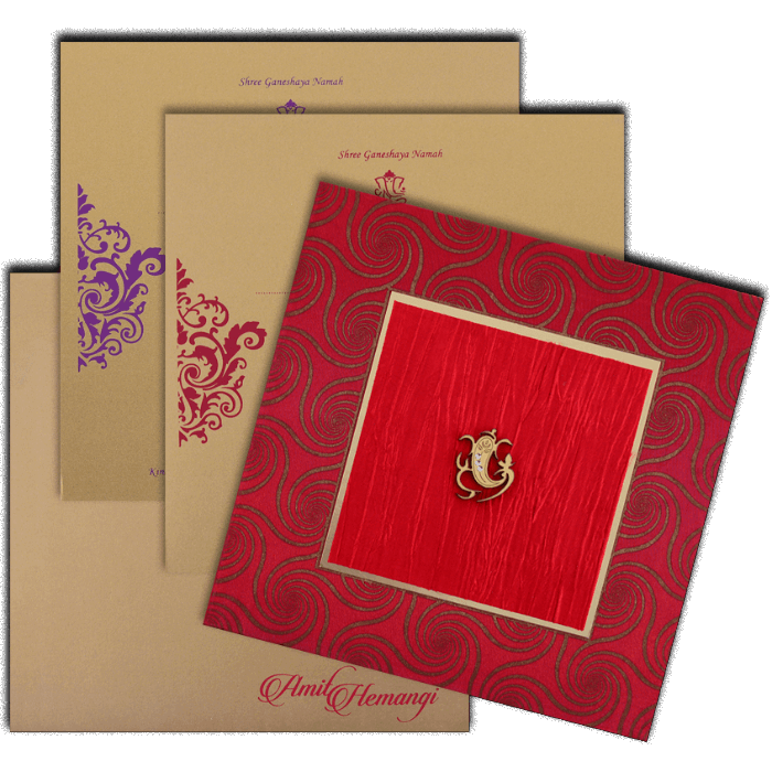 Hindu Wedding Cards - HWC-14035G - 5