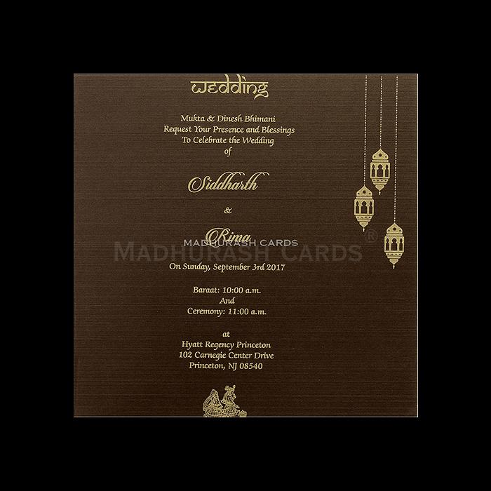 Hindu Wedding Cards - HWC-14100 - 5