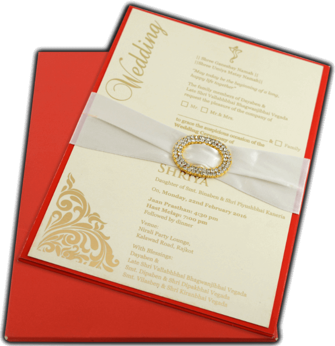 Hard Bound Wedding Cards - HBC-9706R - 4