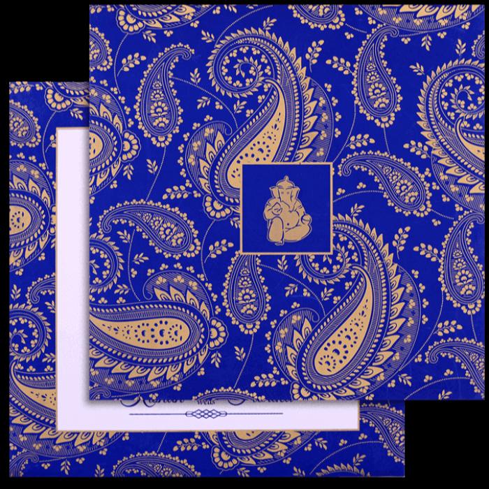 test Custom Wedding Cards - CZC-9515BLUE