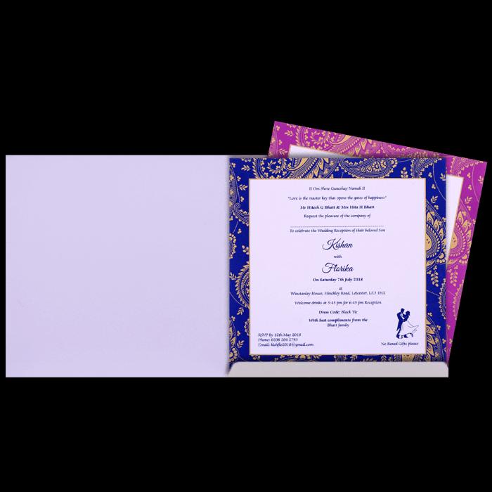 Custom Wedding Cards - CZC-9515BLUE - 3
