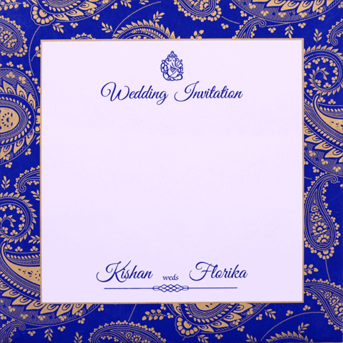 Custom Wedding Cards - CZC-9515BLUE - 4