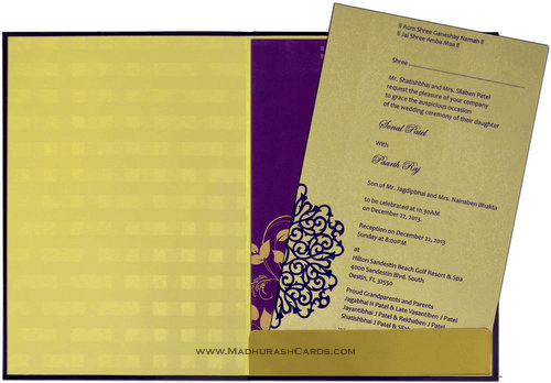 Hindu Wedding Cards - HWC-9024G - 4