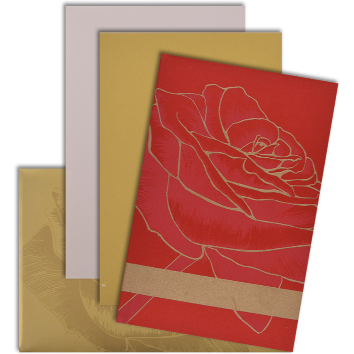 Muslim Wedding Cards - MWC-9101RG - 4