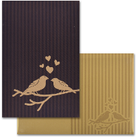 Fabric Wedding Cards - FWI-9102BRG
