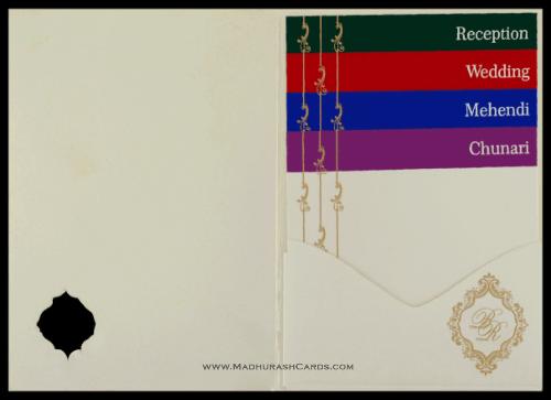 Hindu Wedding Cards - HWC-9046CC - 4