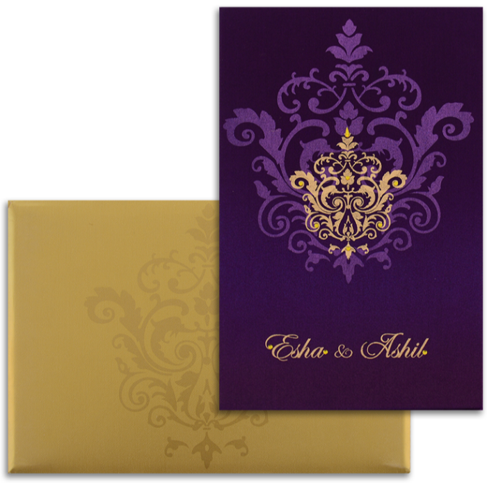 Hindu Wedding Cards - HWC-9104VG
