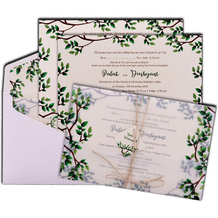 Custom Wedding Cards - CZC-9484 - 5