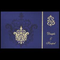 Fabric Wedding Cards - FWI-7336BC