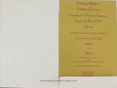 Hindu Wedding Cards - HWC-9109CG - 4