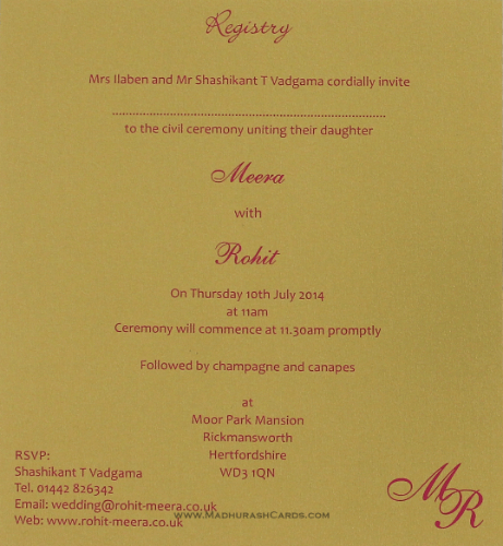 Hindu Wedding Cards - HWC-9109CG - 5