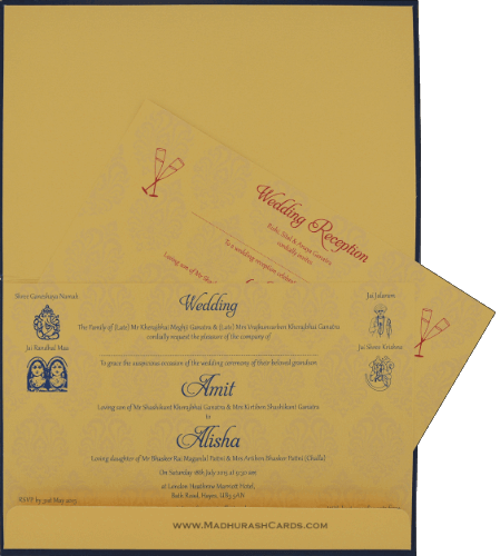 Hindu Wedding Cards - HWC-9107BG - 4