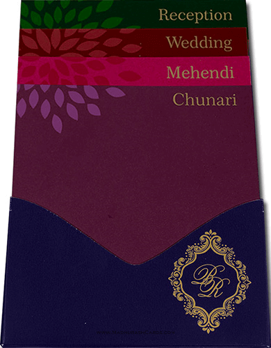 Muslim Wedding Cards - MWC-9042BG - 3