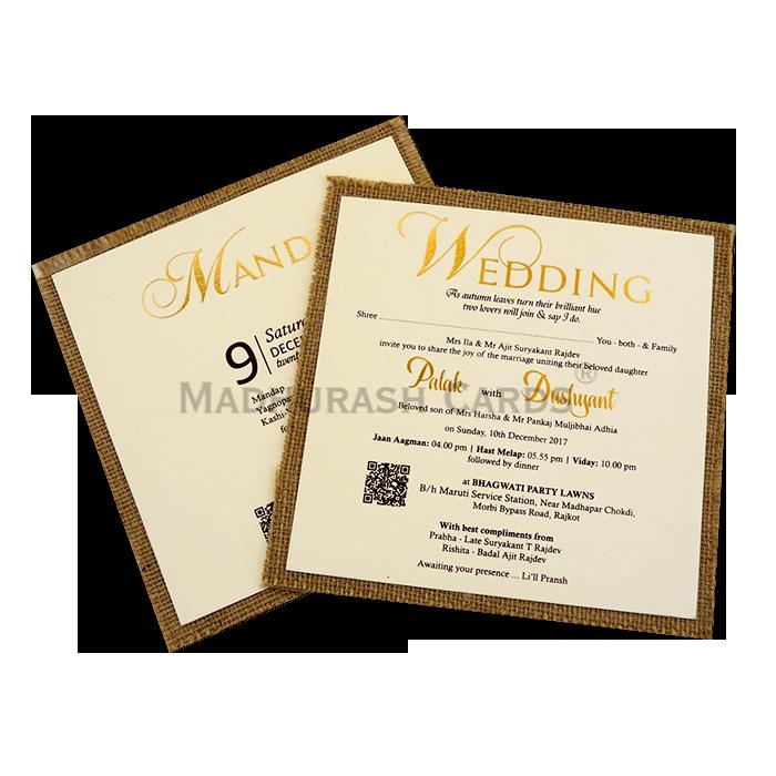Custom Wedding Cards - CZC-9405 - 5