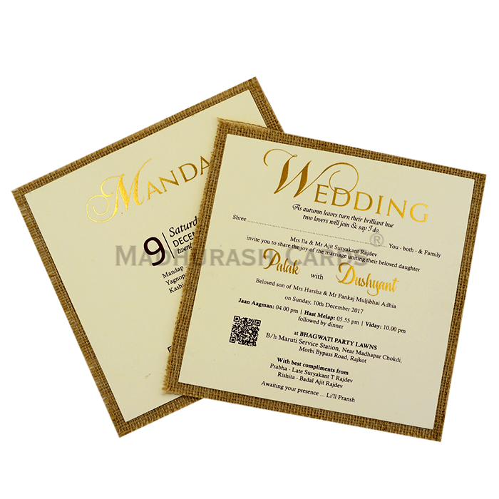 Custom Wedding Cards - CZC-9404 - 5