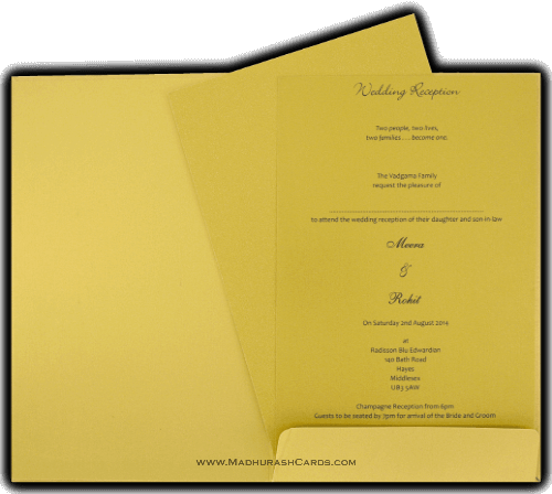 Custom Wedding Cards - CZC-9031GBG - 4