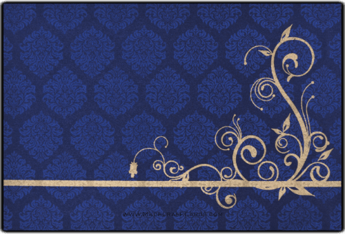 Muslim Wedding Cards - MWC-9116BG