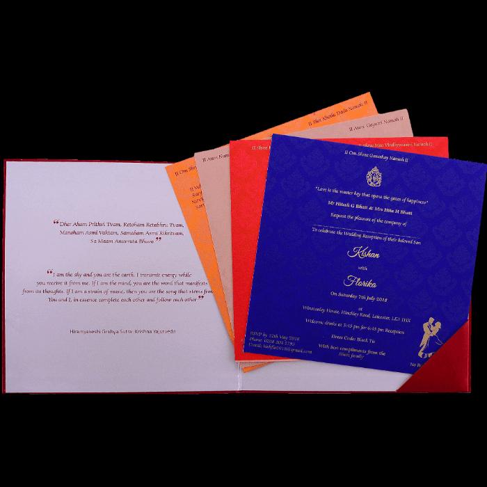 Hindu Wedding Cards - HWC-9456 - 3