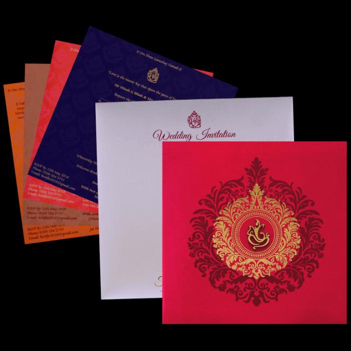 Hindu Wedding Cards - HWC-9456 - 4