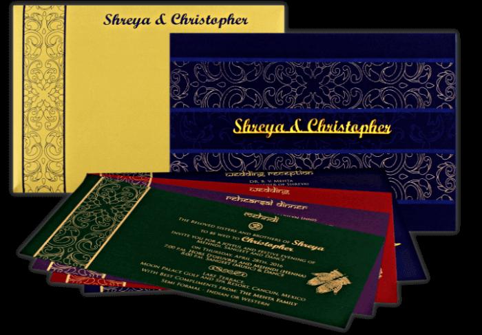 Hindu Wedding Cards - HWC-9110 - 4