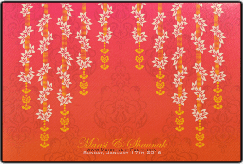 Hindu Wedding Cards - HWC-9078