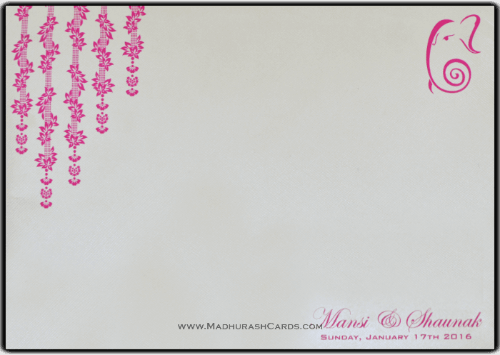 Hindu Wedding Cards - HWC-9078 - 5