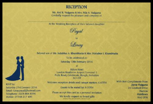 Hindu Wedding Cards - HWC-9111MG - 4