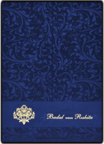 Muslim Wedding Cards - MWC-9114BG - 2
