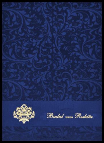 Hindu Wedding Cards - HWC-9114BG