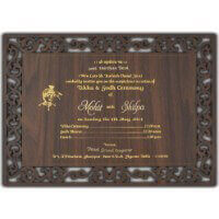 Hard Bound Wedding Cards - HBC-9713