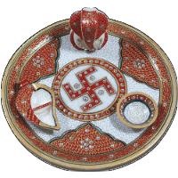 Traditional & Marble Gifts - MG-Marble Puja Thali 4