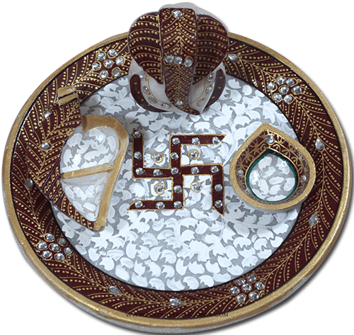 Traditional & Marble Gifts - MG-Marble Puja Thali 7