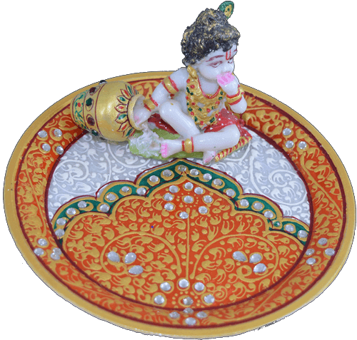 test Traditional & Marble Gifts - MG-Marble Ladoo Gopal Pooja Thali 2