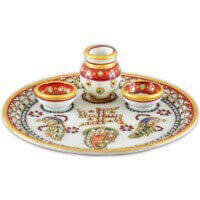 Traditional & Marble Gifts - MG-Marble Pooja Thali 1A