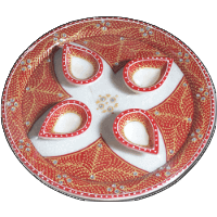Traditional & Marble Gifts - MG-Marble Puja Thali 5