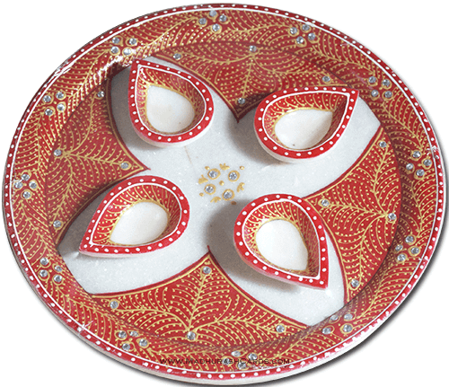 test Traditional & Marble Gifts - MG-Marble Puja Thali 5