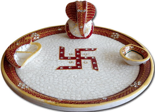 test Traditional & Marble Gifts - MG-Marble Puja Thali 2