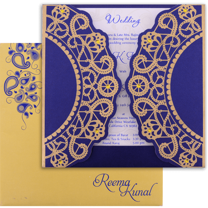 test Custom Wedding Cards - CZC-9037BG