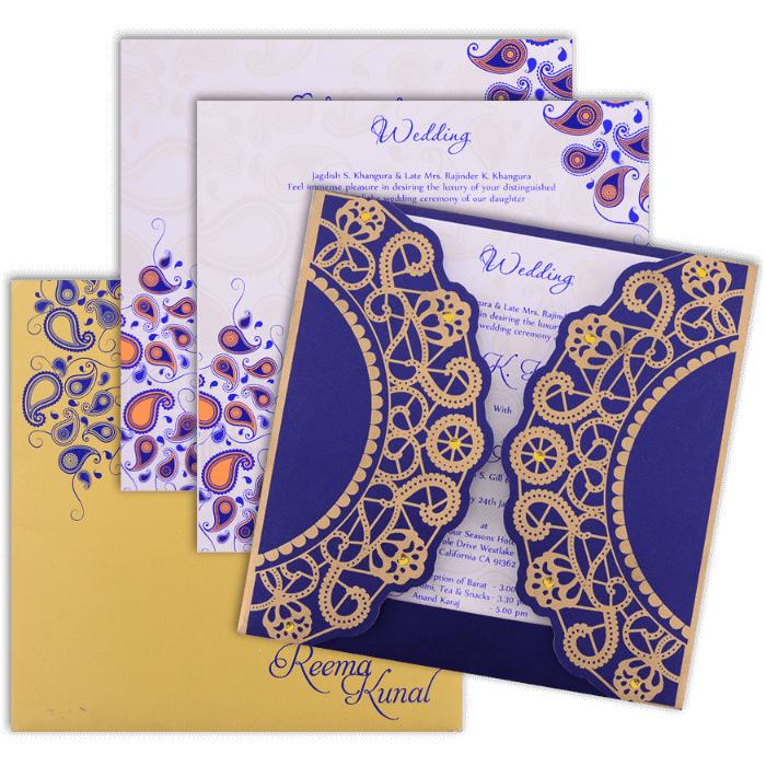 Custom Wedding Cards - CZC-9037BG - 4