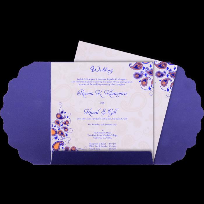 Custom Wedding Cards - CZC-9037BG - 5