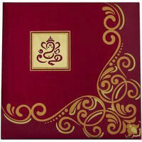 Hard Bound Wedding Cards - HBC-7407G
