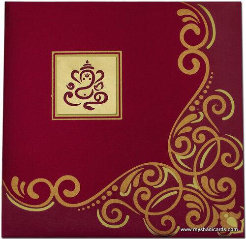 Hard Bound Wedding Cards - HBC-7407G