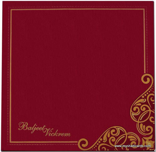 Hard Bound Wedding Cards - HBC-7407G - 3